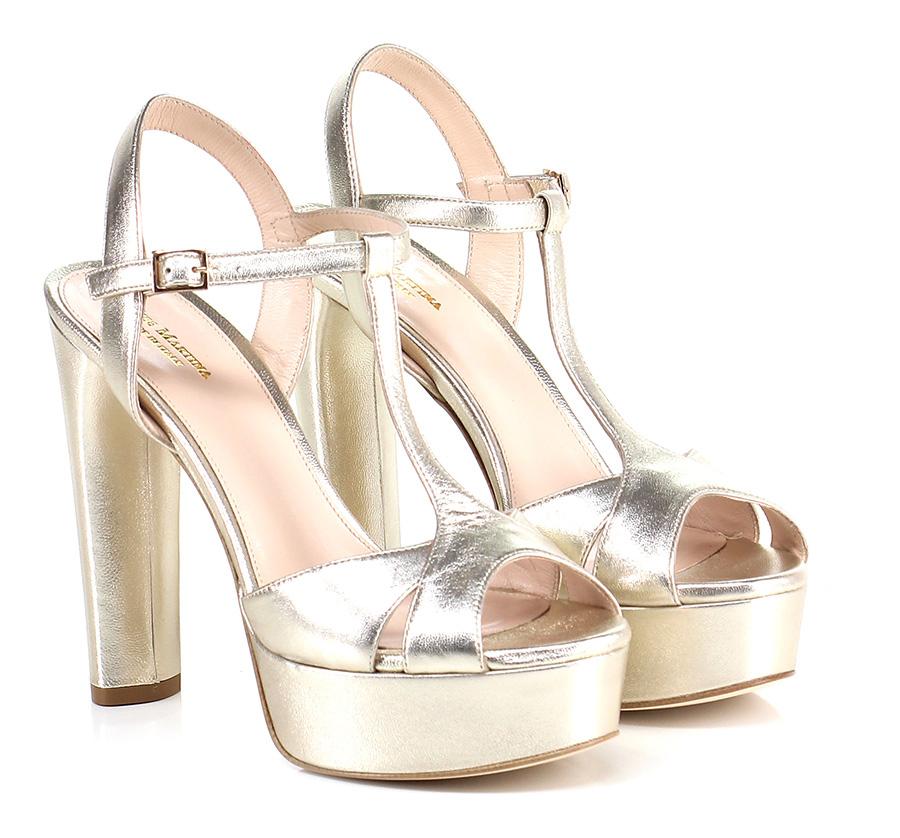Sandalo alto Platino Miss Martina Scarpe economiche e buone