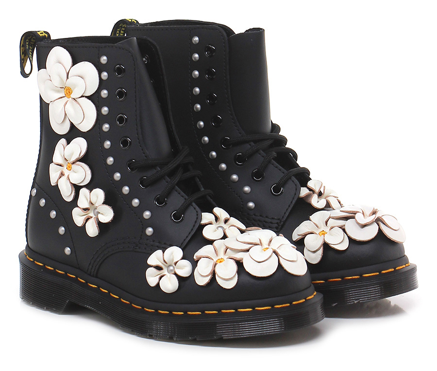 Polacco Black/white Dr. Martens Mode billige Schuhe