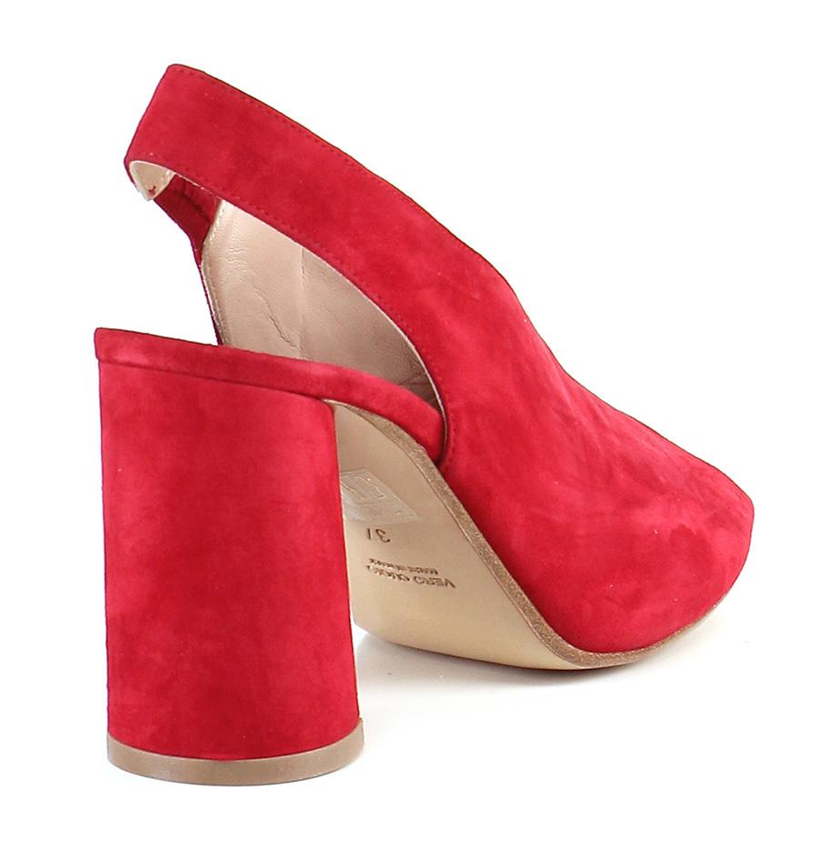 Sandalo alto alto alto Rosso Gisele Paris 65eeef
