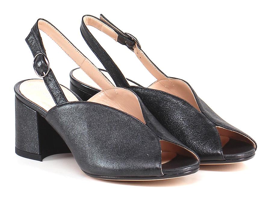 Sandalo alto Nero Gisele Paris Mode billige Schuhe