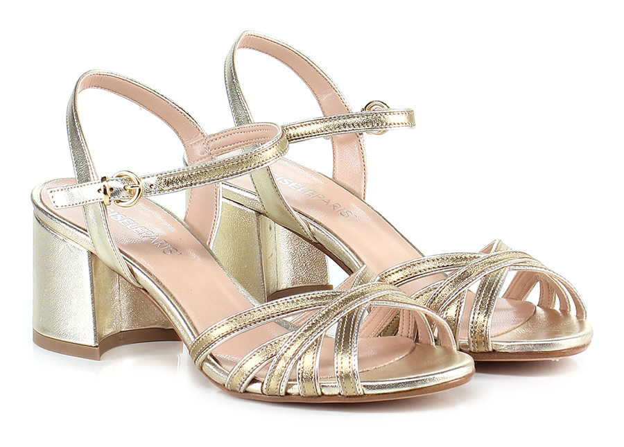 Sandalo alto Oro Gisele Paris Hohe Qualität