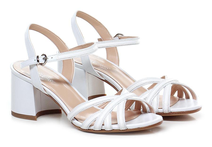 Sandalo alto Bianco Gisele Paris Hohe Qualität