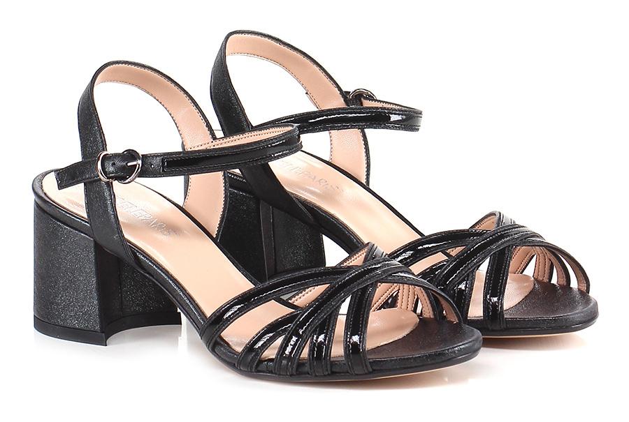 Sandalo alto Nero Gisele Paris
