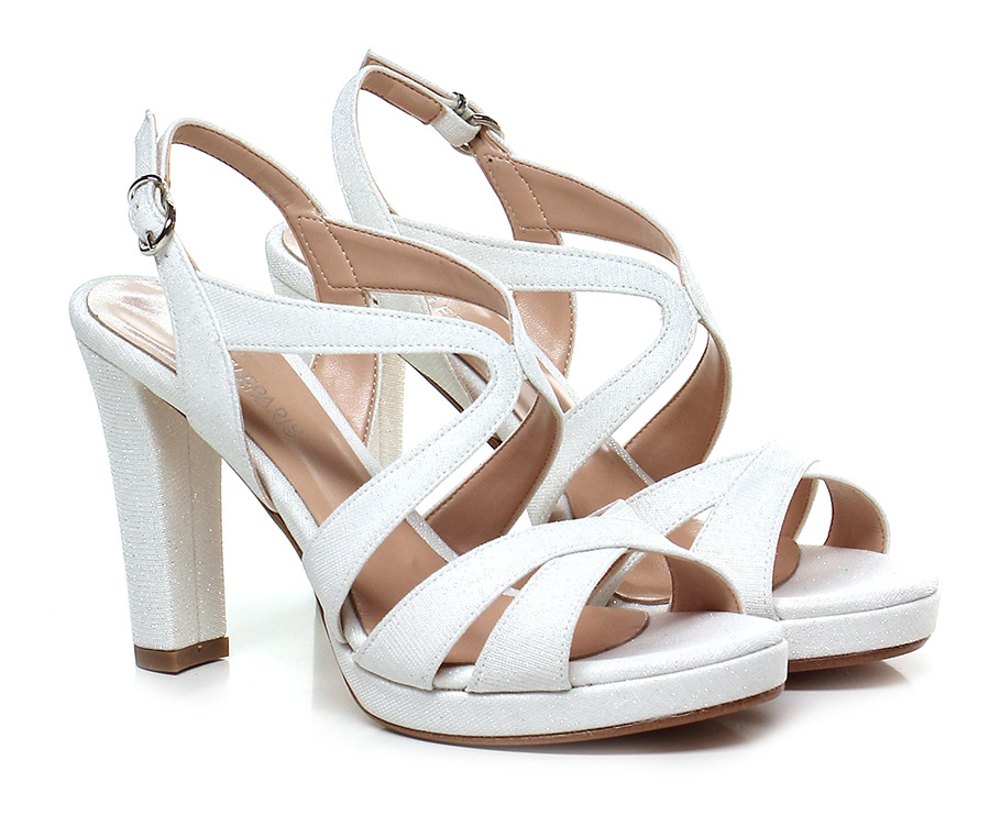 Sandalo alto Bianco Gisele Paris