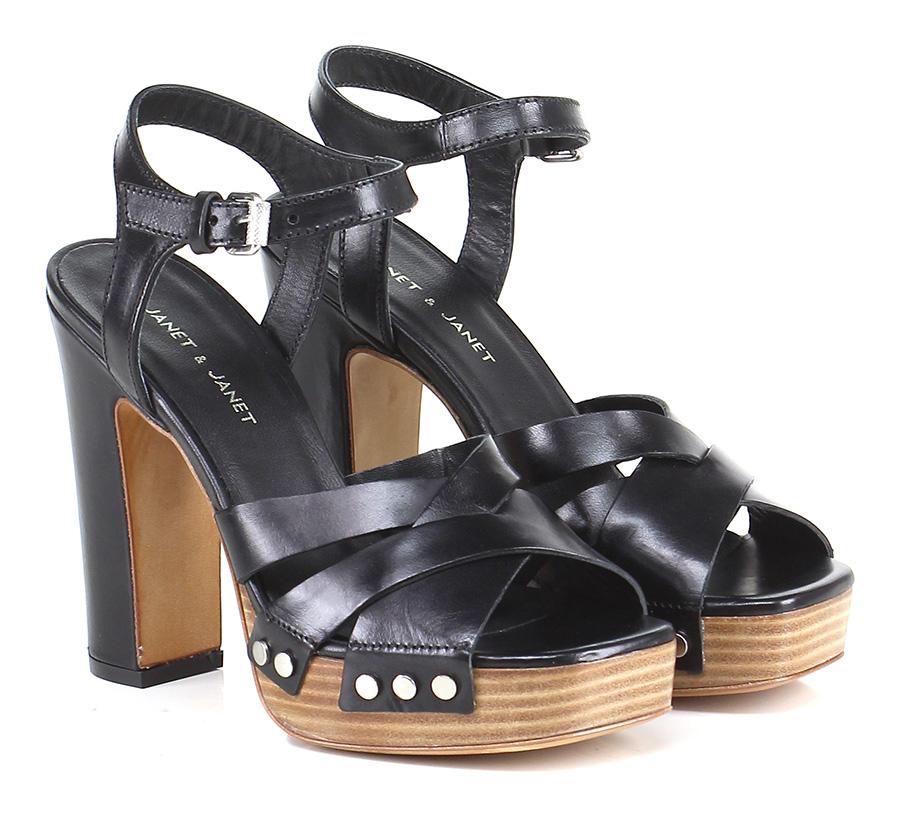 Sandalo alto Nero Janet & Janet