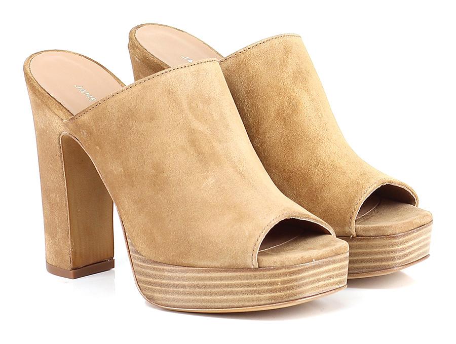 Sandalo alto Cuoio Janet & Janet