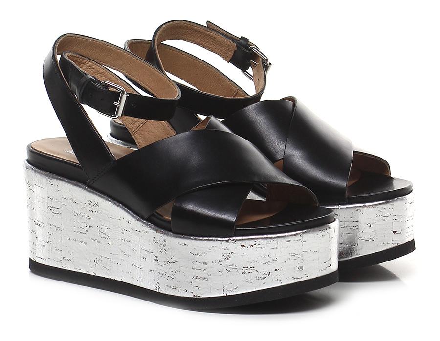 Zeppa Nero/argento Janet Mode Sport Mode Janet billige Schuhe 7ec40e