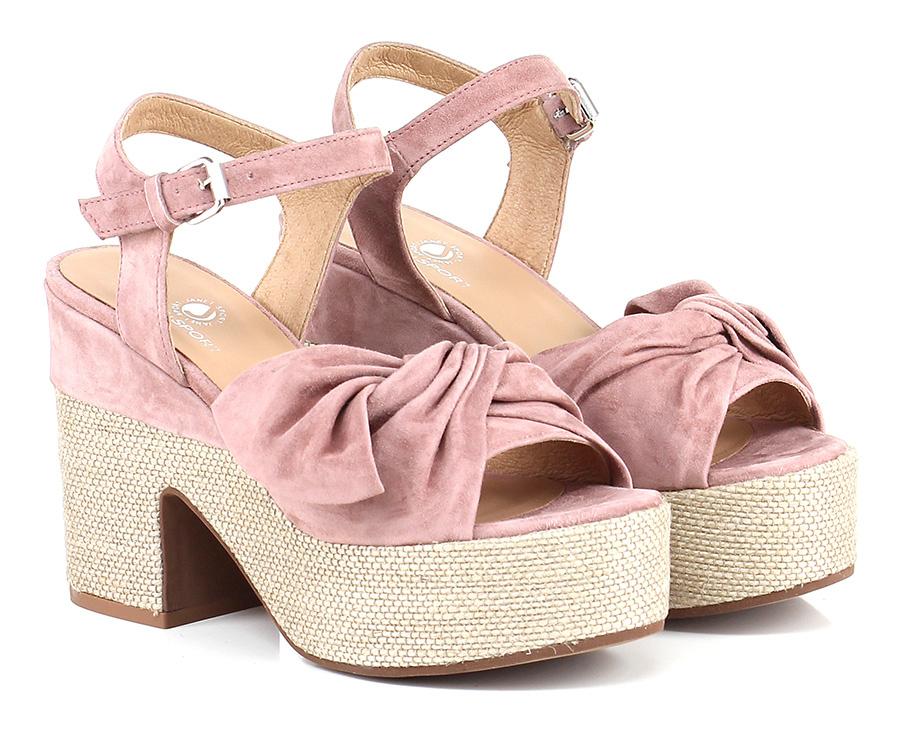Sandalo alto Rosa/sabbia Janet Sport