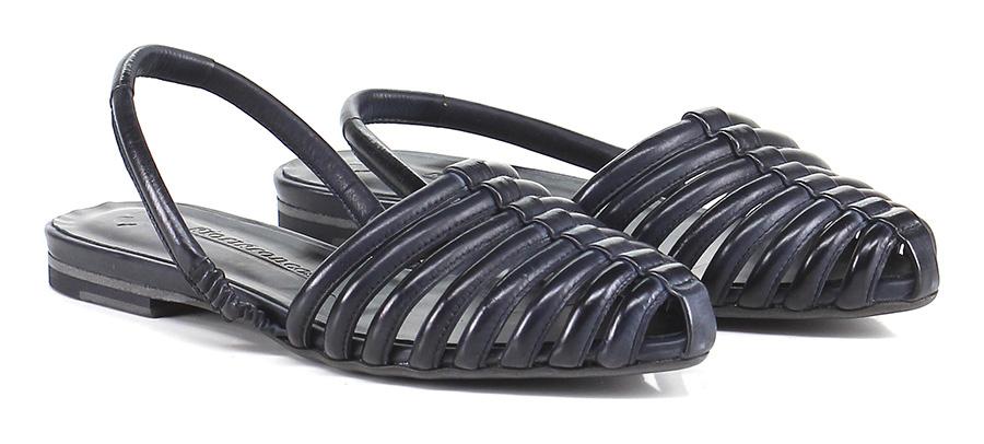 Sandalo basso Nero Fiori Francesi
