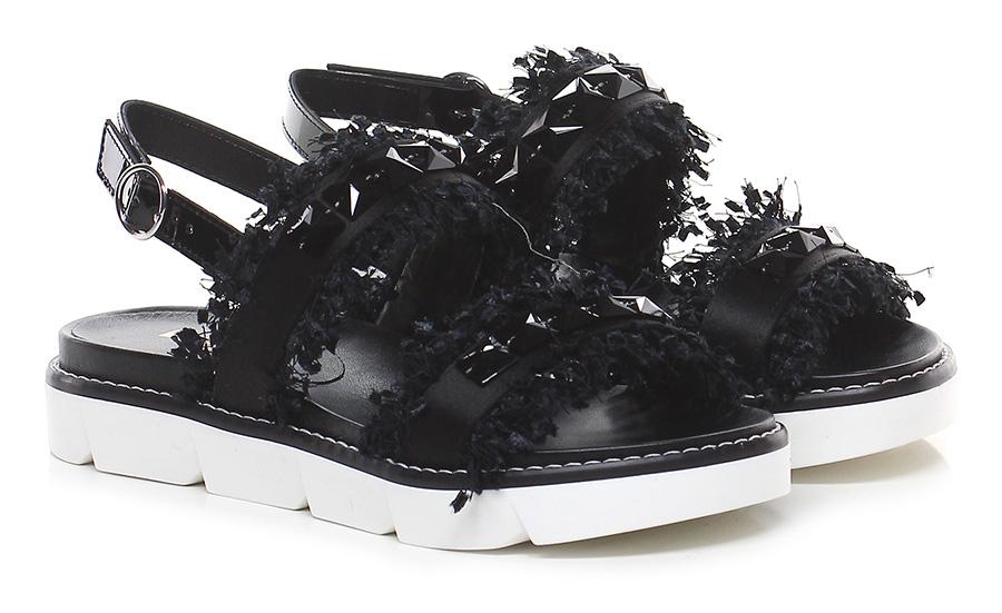 Sandalo basso Nero Jeannot Verschleißfeste billige Schuhe