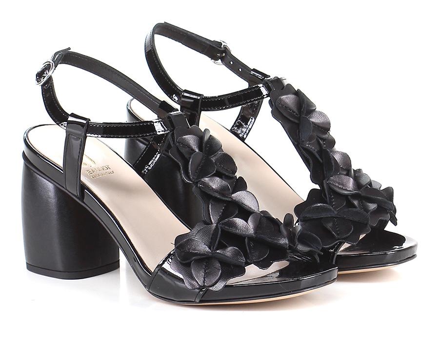 Sandalo alto  Nero Jeannot Mode billige Schuhe