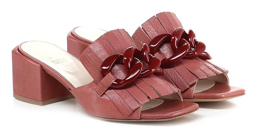 Sandalo alto Rosa antico/rosso Jeannot