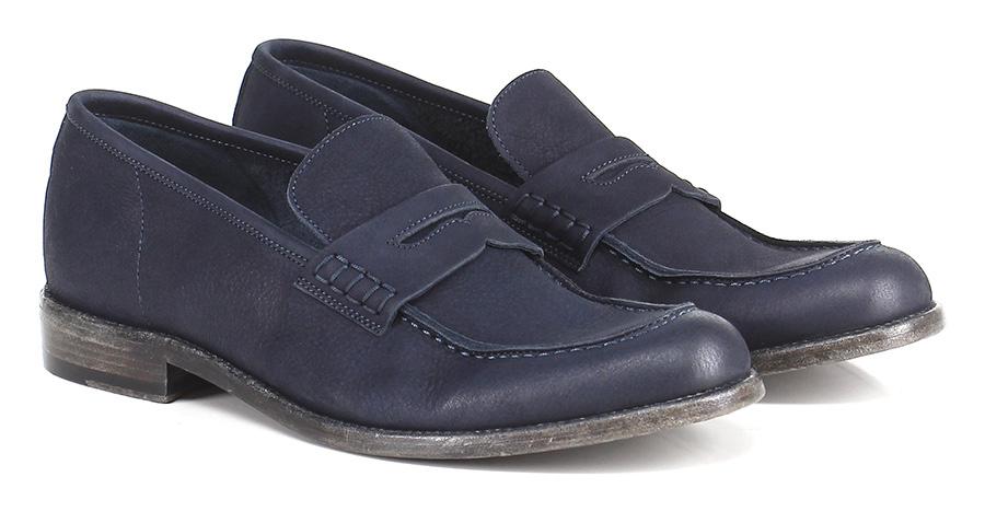 Mocassini Blu Hundred 100 Mode billige Schuhe