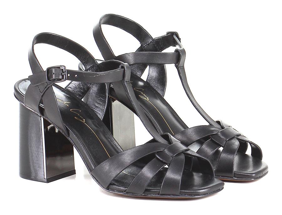 Sandalo alto Nero Lola Cruz Hohe Qualität
