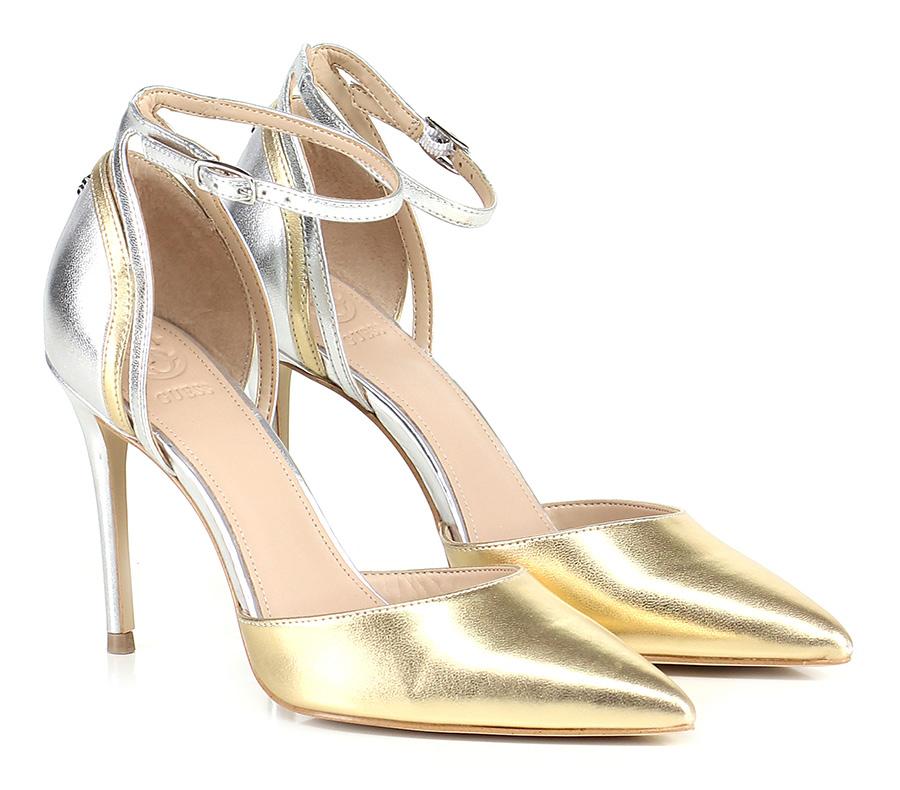 Scarpa con tacco tacco tacco Gold/silver Guess 44e6be