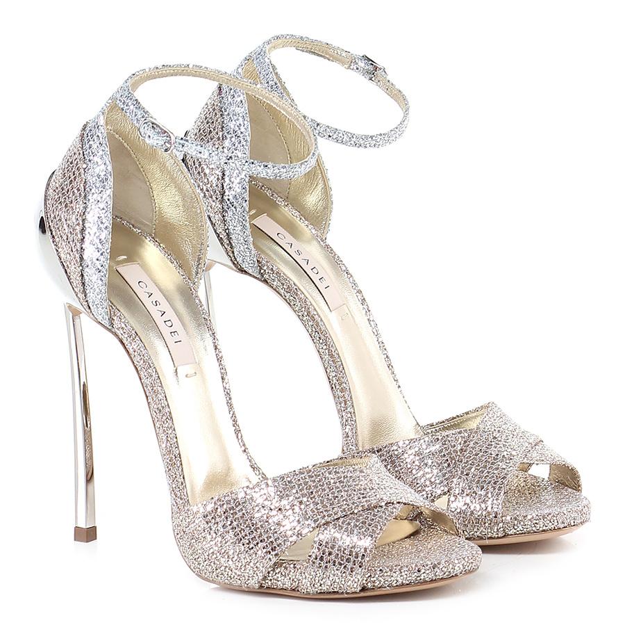 Sandalo alto Rame/argento Casadei Verschleißfeste billige Schuhe