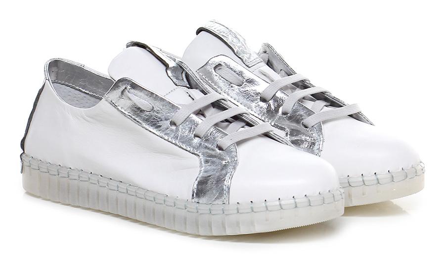 Sneaker Bianco/argento Andia Fora Verschleißfeste billige Schuhe
