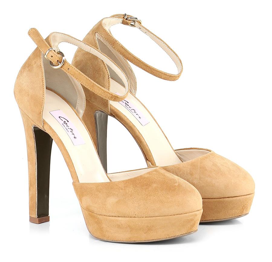 Scarpa con tacco Cammello Couture
