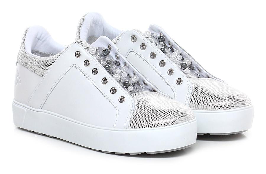 Sneaker Verschleißfeste Bianco/argento Apepazza Verschleißfeste Sneaker billige Schuhe c1f1a9