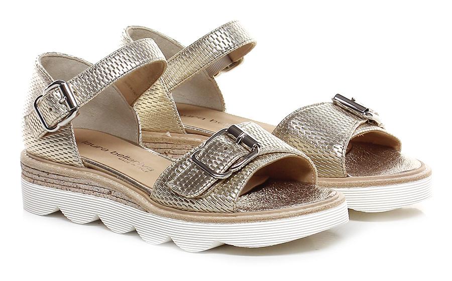 Sandalo basso Oro Laura Bellariva Hohe Qualität