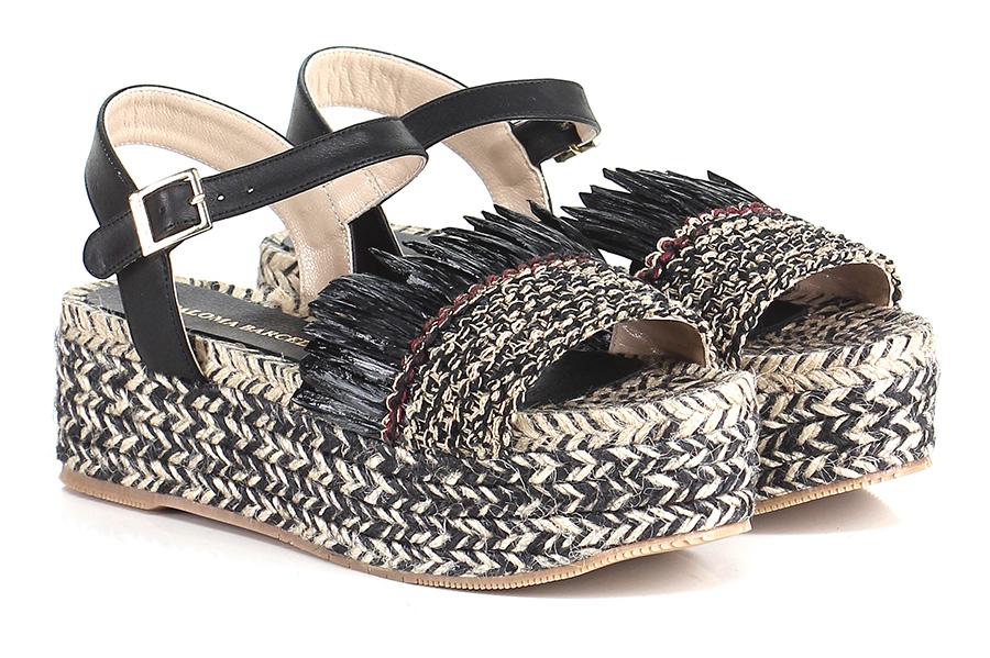 Zeppa Nero/sabbia Paloma Barcelo' Verschleißfeste billige Schuhe