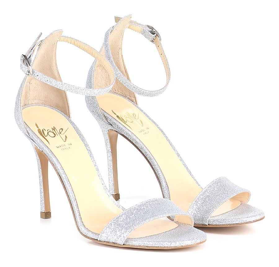 Sandalo alto Argento Argento Argento Icone Mode billige Schuhe 963632