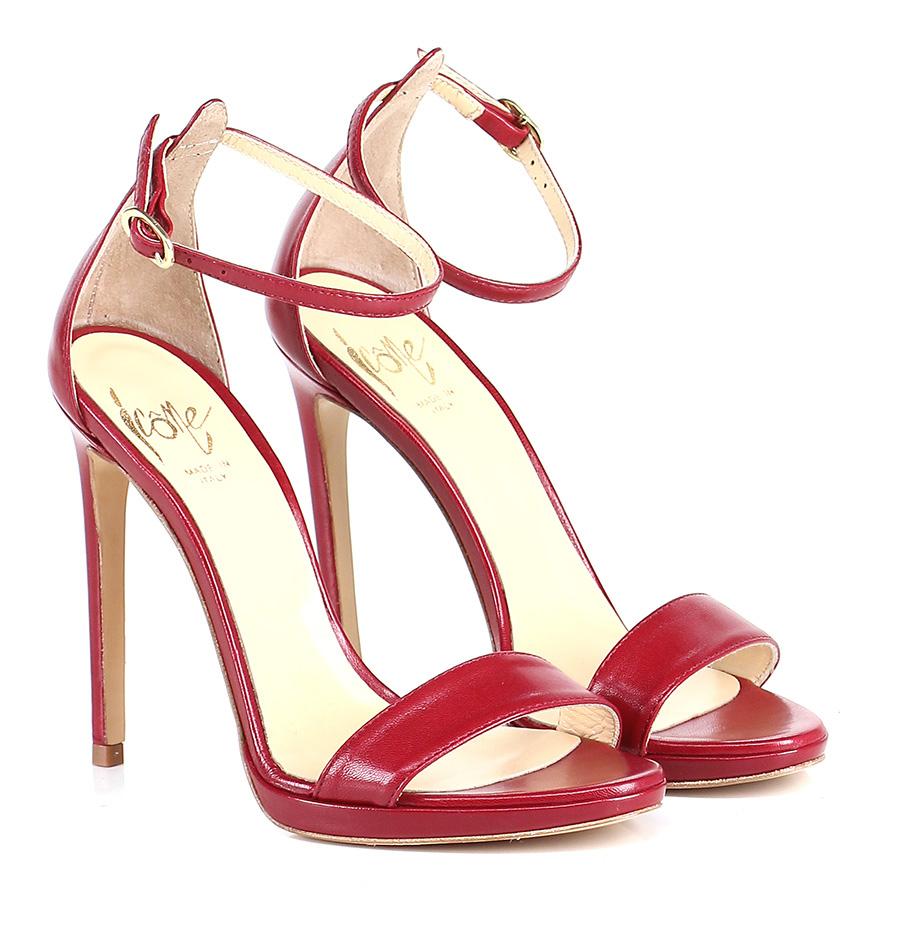 Sandalo alto Rosso Icone Verschleißfeste billige Schuhe