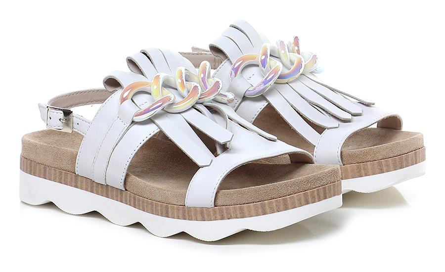 Sandalo basso Avorio Tosca Blu Shoes
