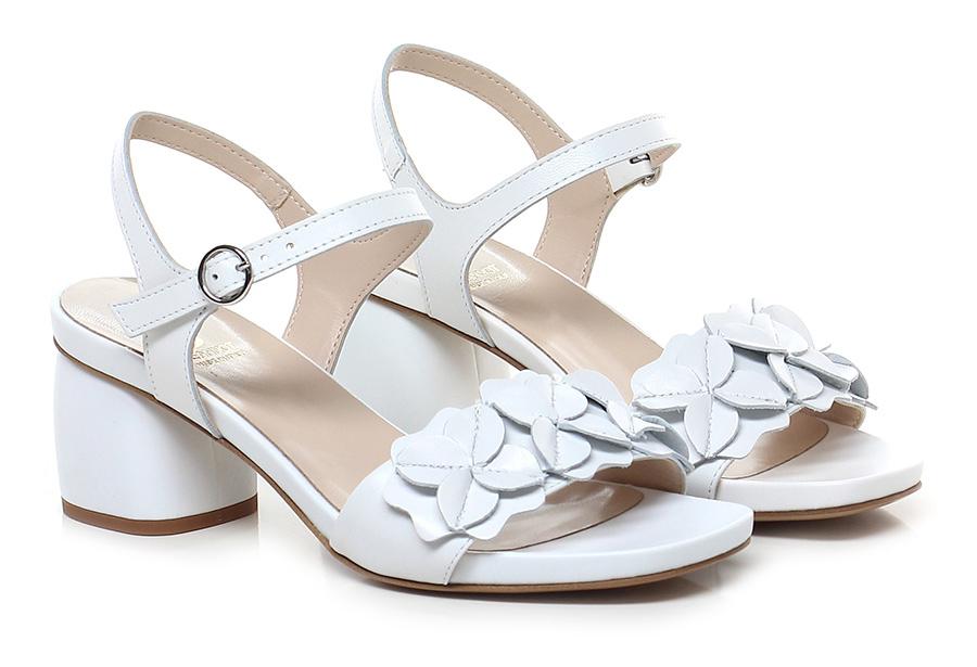 Sandalo alto Bianco Jeannot Verschleißfeste billige Schuhe