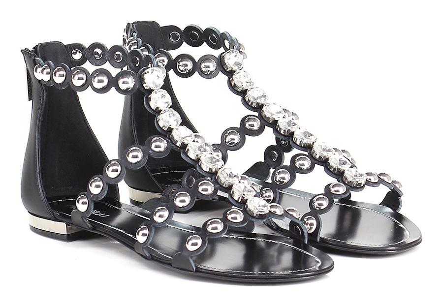 Sandalo Sandalo Sandalo basso  Nero Ninalilou Mode billige Schuhe 71acd0
