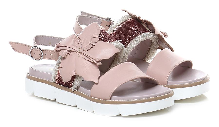 Sandalo basso Rosa/sabbia Jeannot Verschleißfeste billige Schuhe
