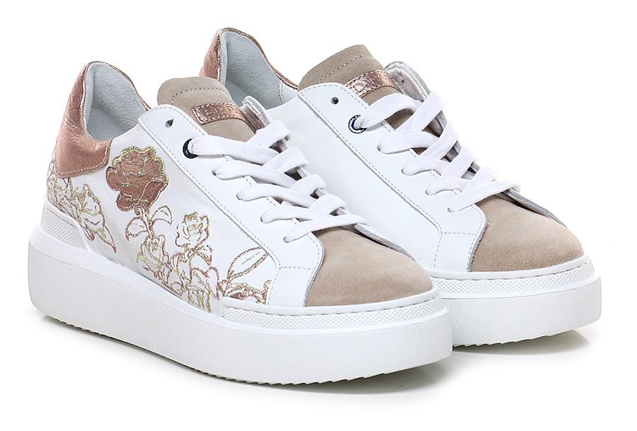 Sneaker Bianco/rame/beige Ed Parrish Verschleißfeste billige Schuhe Schuhe Schuhe cab49f