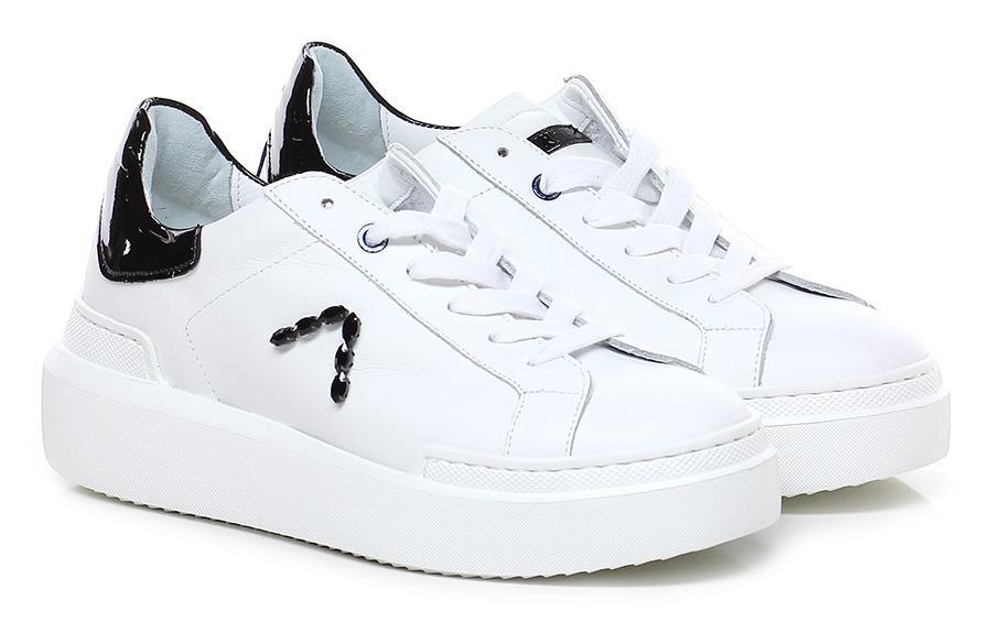 Sneaker Bianco/nero Ed Parrish Verschleißfeste billige Schuhe
