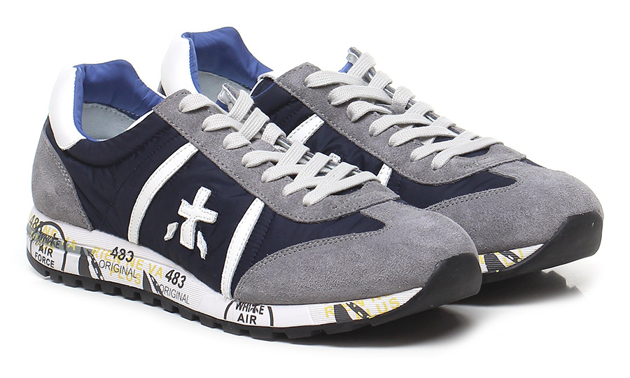 Sneaker 600e grey/navy Schuhe Premiata Mode billige Schuhe grey/navy c29c67