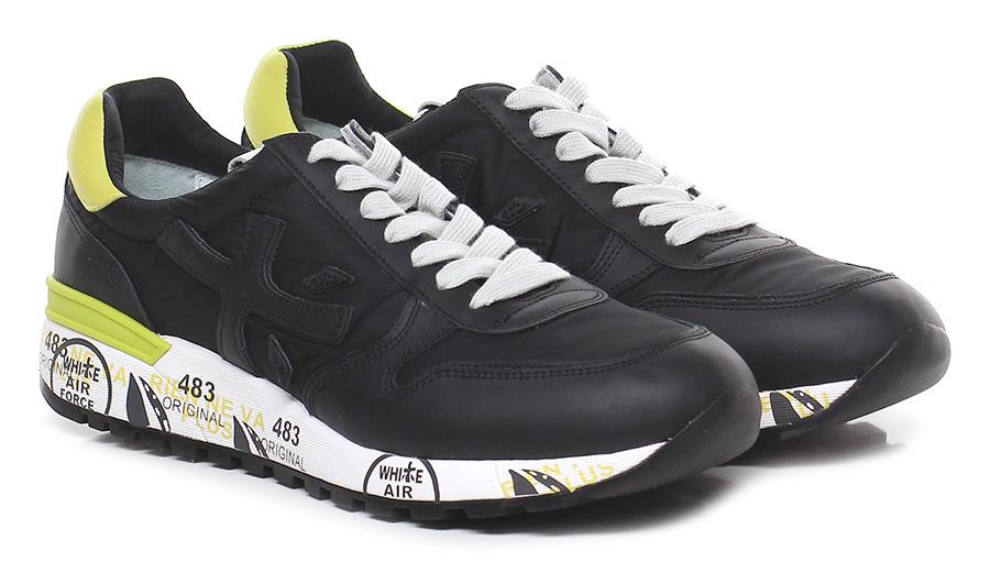 Sneaker 2825 black/yellow Premiata Verschleißfeste billige Schuhe