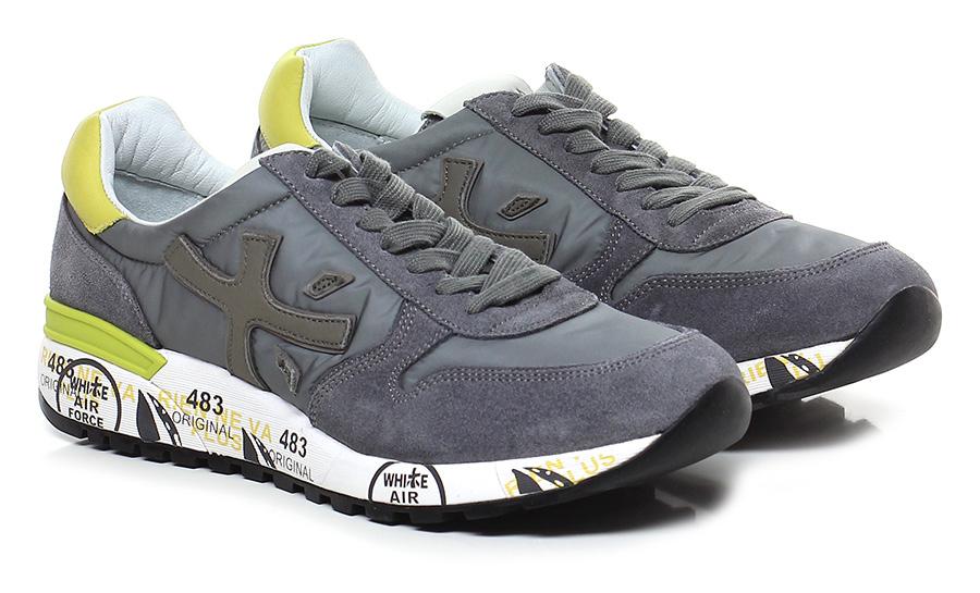 Sneaker 2827 grey/yellow Premiata Verschleißfeste billige Schuhe