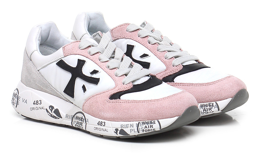 Sneaker 3057 pink/black/white Premiata Mode billige Schuhe