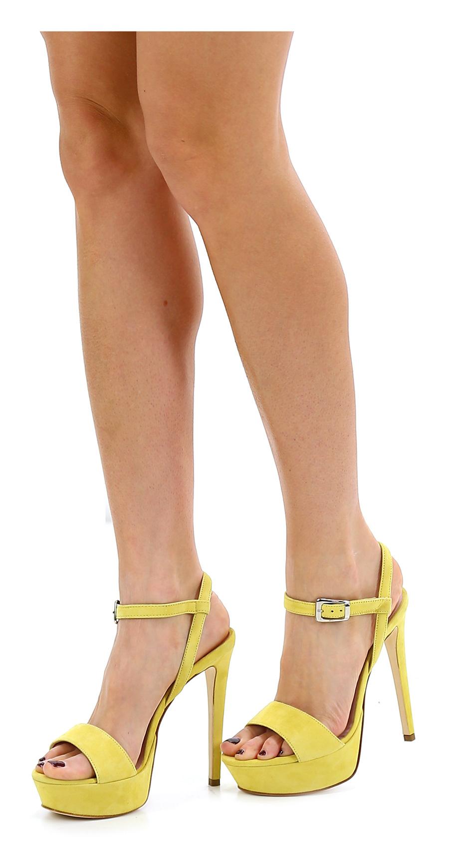Sandalo alto Giallo Chon Verschleißfeste billige Schuhe