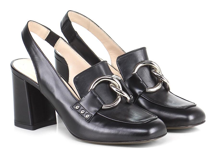 Scarpa con tacco Nero Couture Mode billige Schuhe