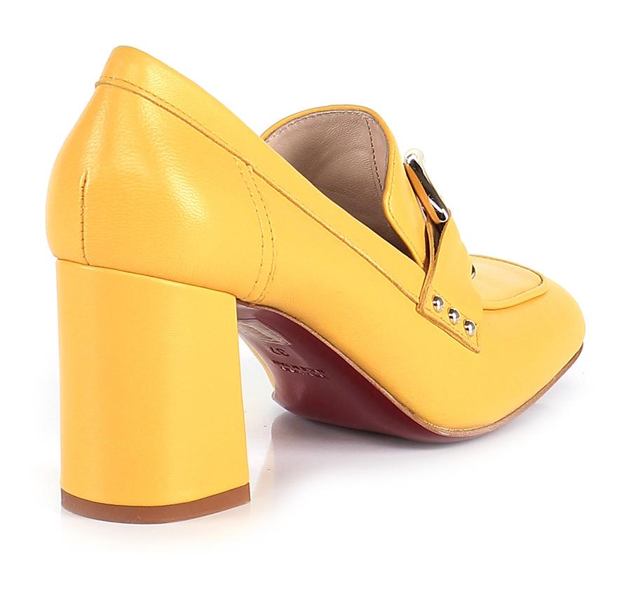 Scarpa con tacco tacco tacco Giallo Couture b4c34e