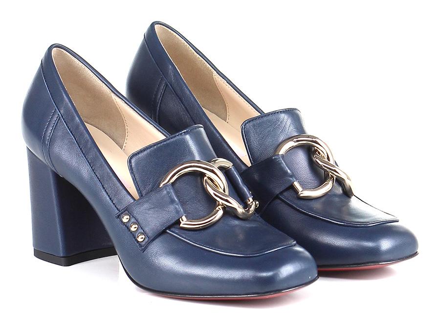Scarpa con tacco Blu Couture Hohe Qualität