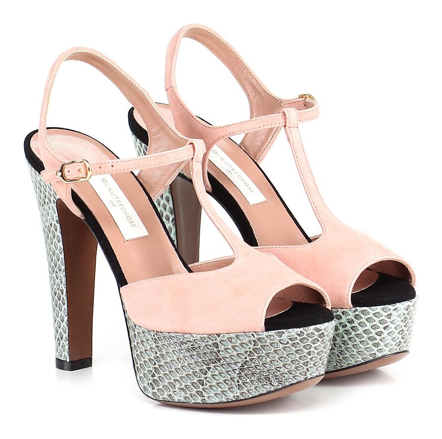 Sandalo alto Nude/green L'autre Chose Mode billige Schuhe