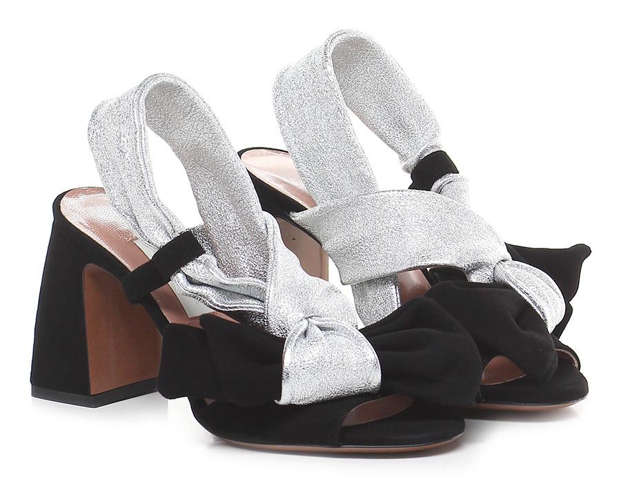 Sandalo alto  Black/silver L'autre Chose