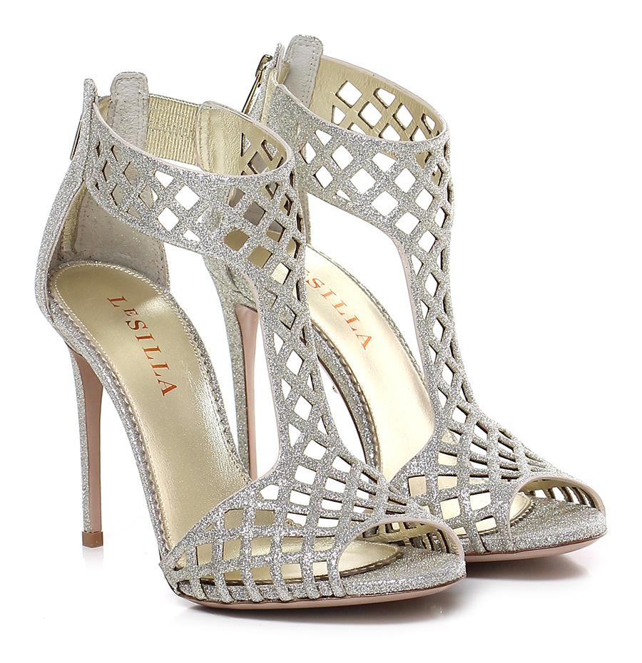 Sandalo alto Platino Le Silla