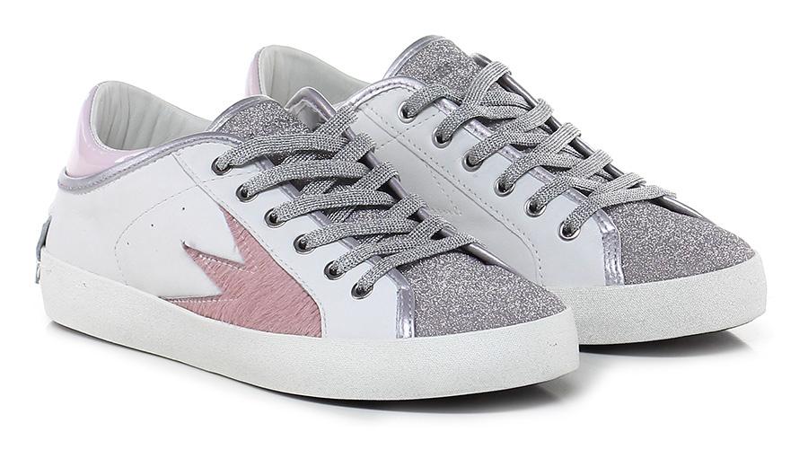 Sneaker White/pink/silver Crime Scarpe economiche e buone