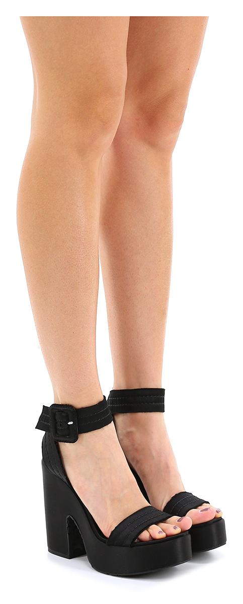 Sandalo alto Black Pedro Garcia Scarpe economiche e buone