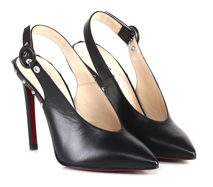 Scarpa con tacco Nero Couture Hohe Qualität