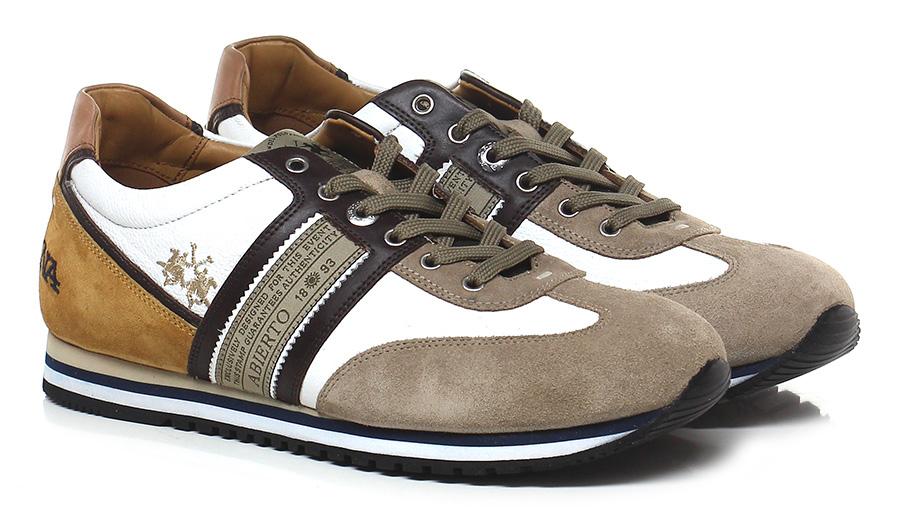 Sneaker Bianco/taupe/senape La Martina Verschleißfeste billige Schuhe