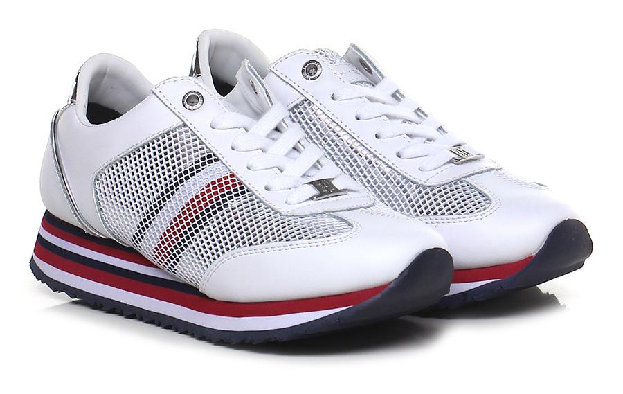 Sneaker White/silver Tommy Hilfiger Verschleißfeste billige Schuhe