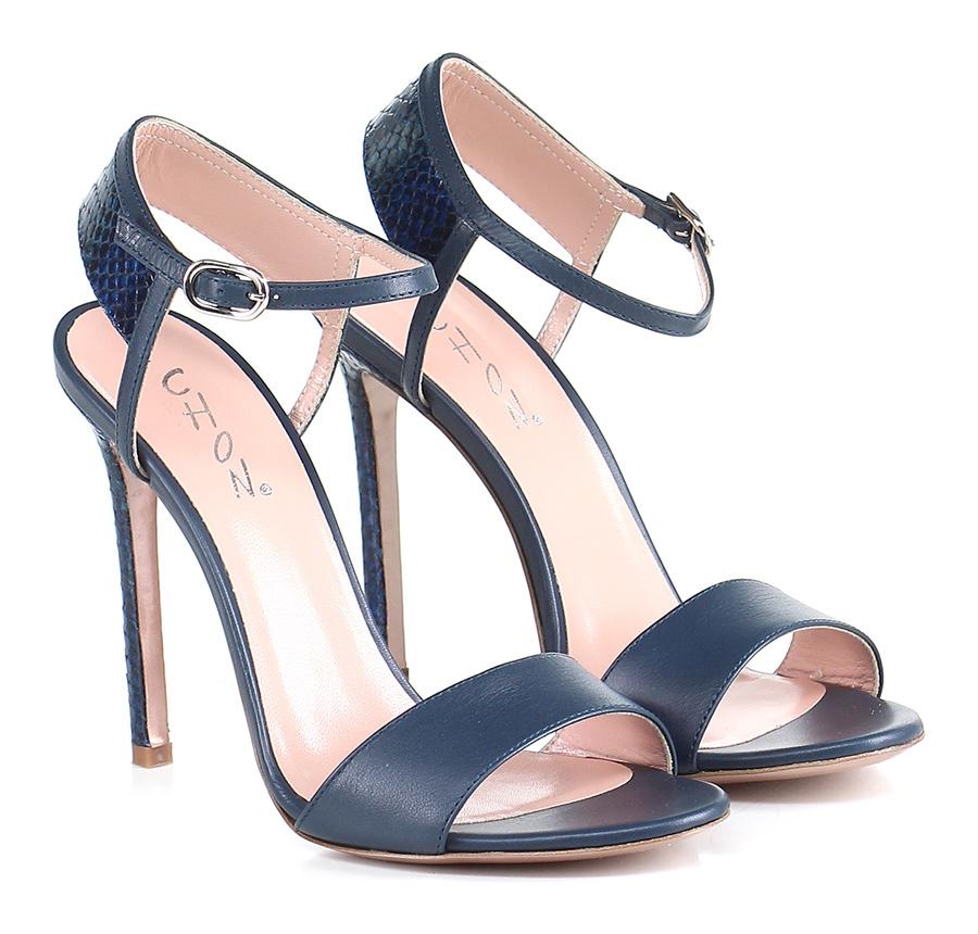 Sandalo alto Blu Chon Verschleißfeste billige Schuhe